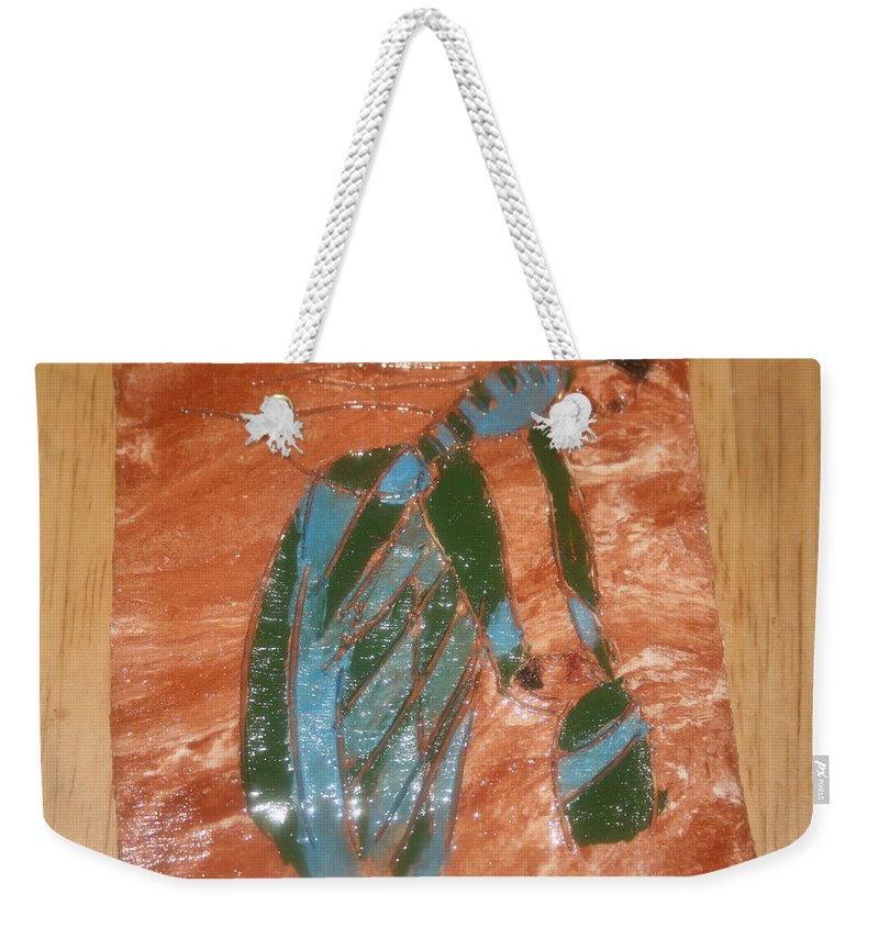 Jesus Weekender Tote Bag featuring the ceramic art Playtime - Tile by Gloria Ssali