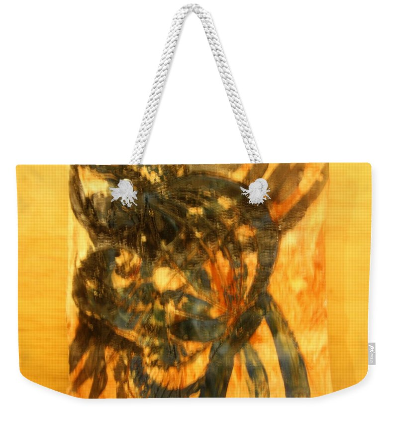 Jesus Weekender Tote Bag featuring the ceramic art Playtime by Gloria Ssali