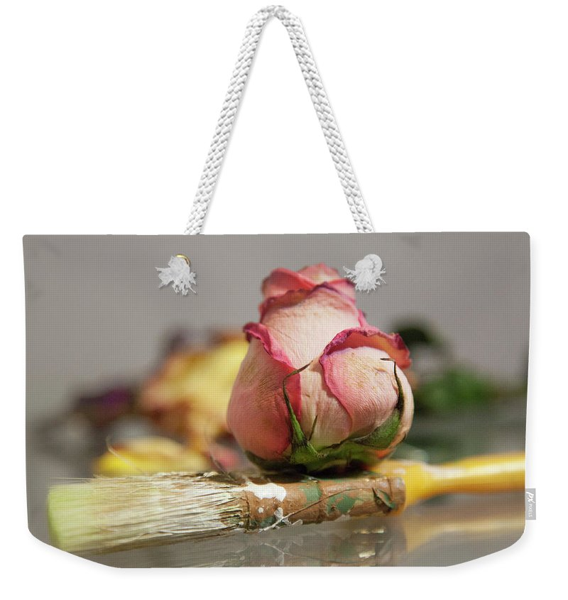 Weekender Tote Bag featuring the photograph pARTners in crime by Holly Bell