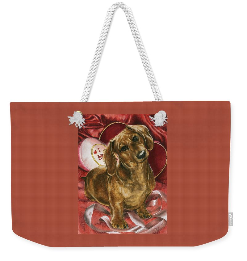 Purebred Weekender Tote Bag featuring the mixed media Please Be Mine by Barbara Keith