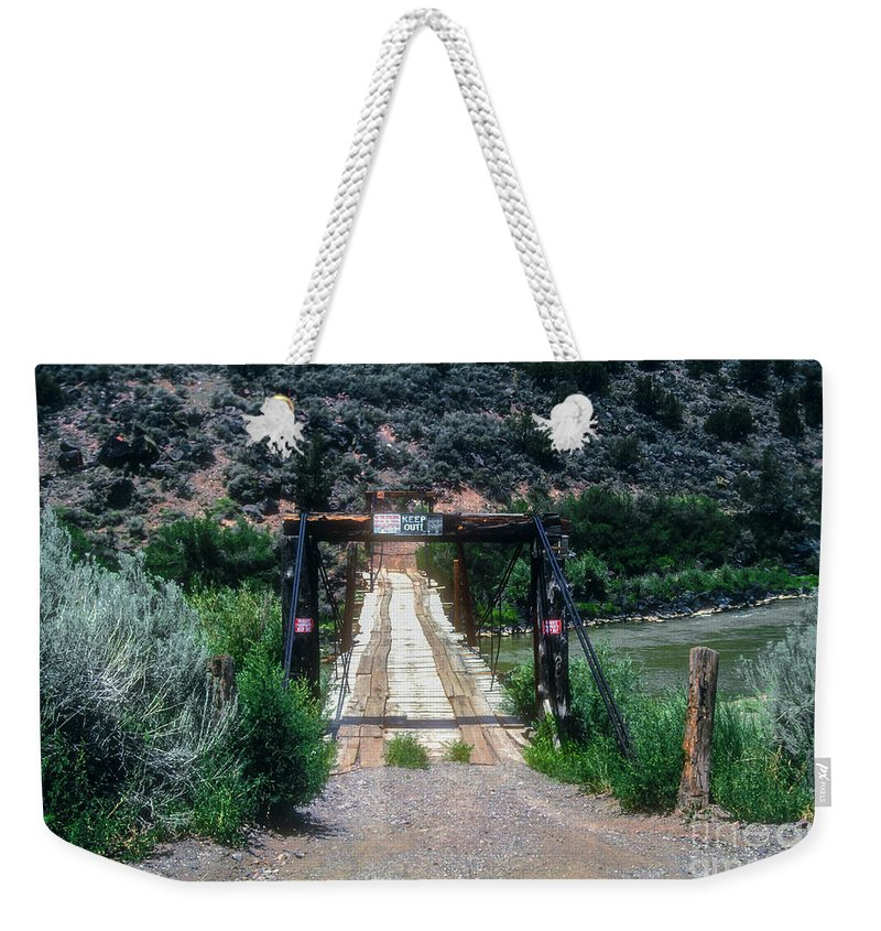 Queste Weekender Tote Bag featuring the photograph Please Keep Out by Bob Phillips