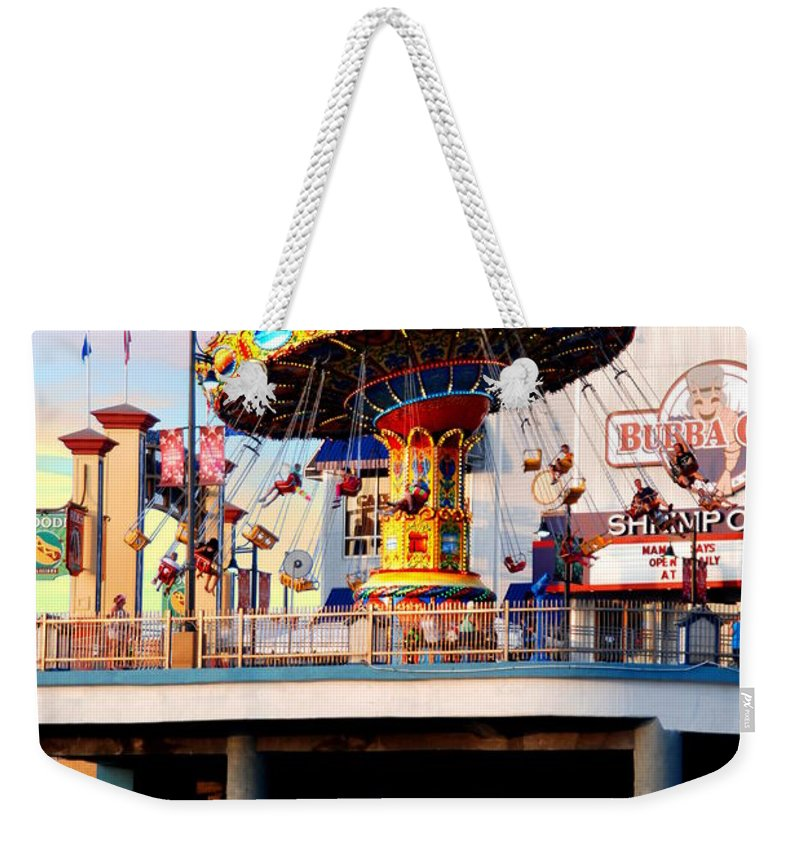 Weekender Tote Bag featuring the photograph Pleasure Pier by Emily Miller