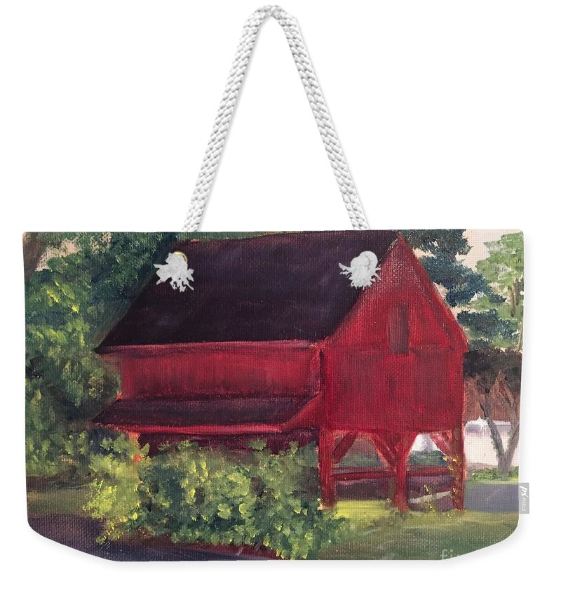 Medford Weekender Tote Bag featuring the painting Plein Aire 7-12-16 by Sheila Mashaw
