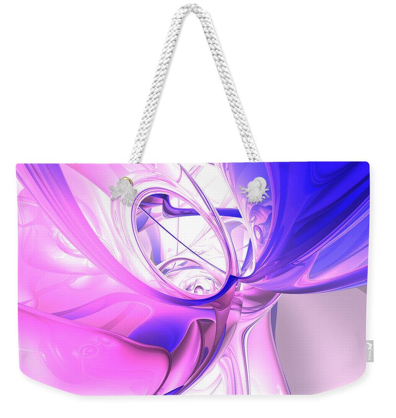 3d Weekender Tote Bag featuring the digital art Plum Juices Abstract by Alexander Butler