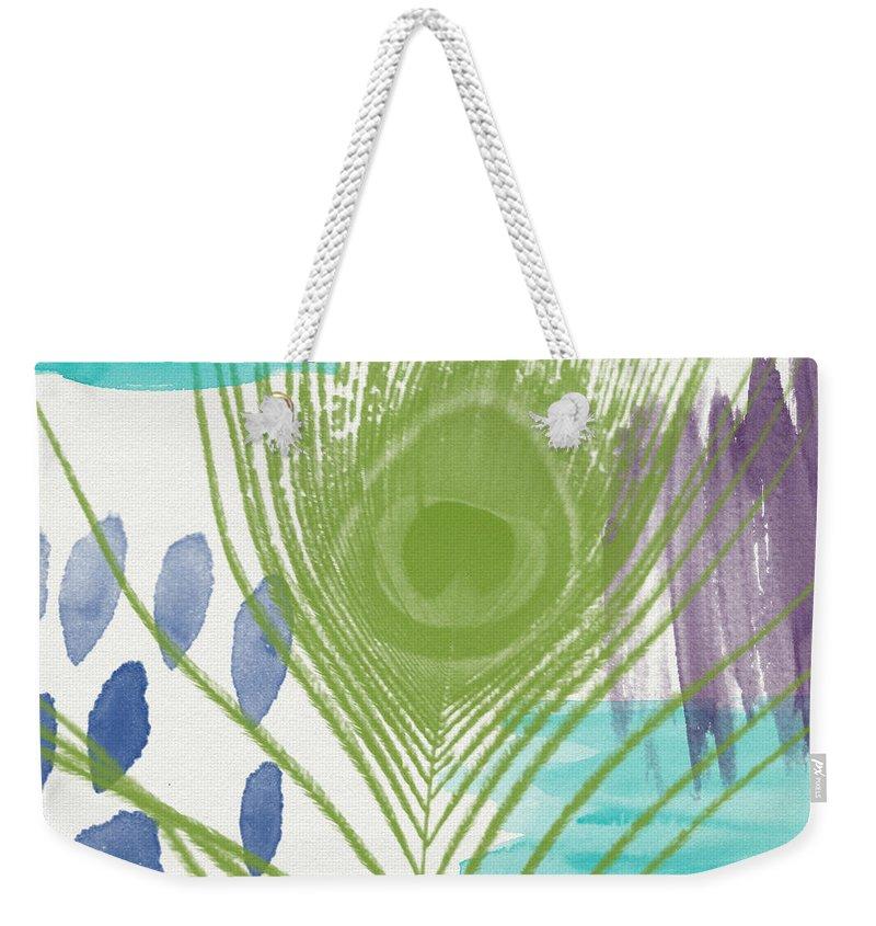 Mixed-media Weekender Tote Bags