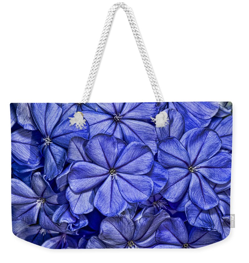 Plumbago Weekender Tote Bag featuring the photograph Plumbago by Roberto Aloi