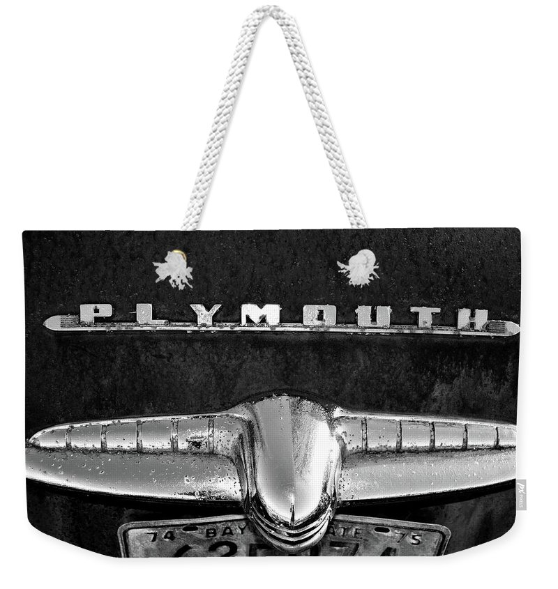 Plymouth Weekender Tote Bag featuring the photograph Plymouth 2 by Tamra Lockard