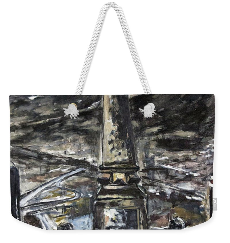 Landscape Weekender Tote Bag featuring the painting Po Cerveny Dolu by Pablo de Choros