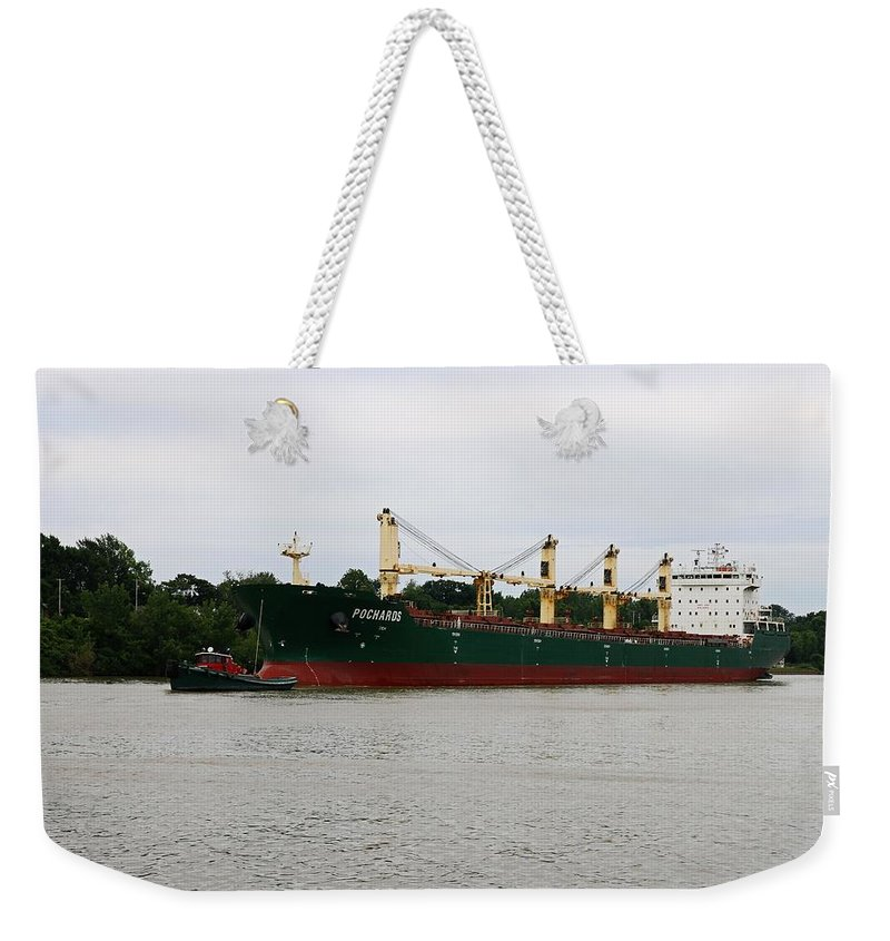 Pochards Weekender Tote Bag featuring the photograph Pochards by Michiale Schneider