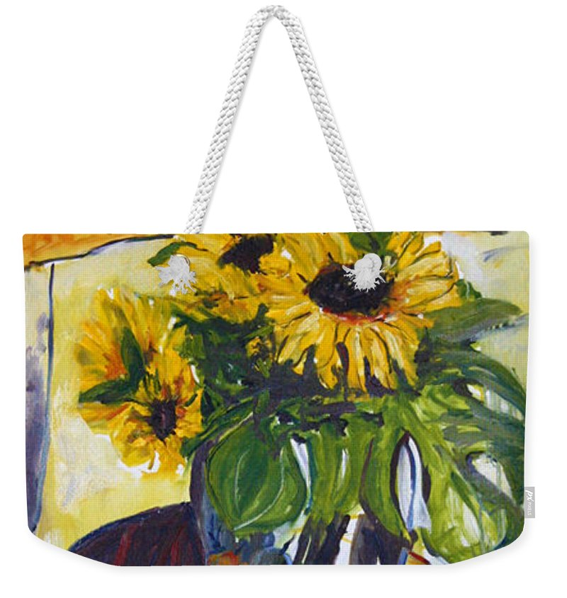 Landscape Weekender Tote Bag featuring the painting pocta VvG-scetch n-3 by Pablo de Choros