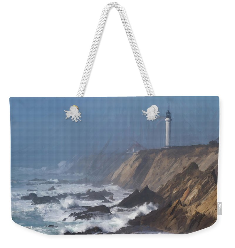 Action Weekender Tote Bag featuring the photograph Point Arena Lighthouse by Charles Wollertz