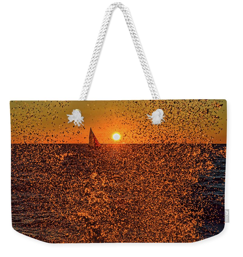Point Betsie Light Weekender Tote Bag featuring the photograph Point Betsie Light by Joe Holley