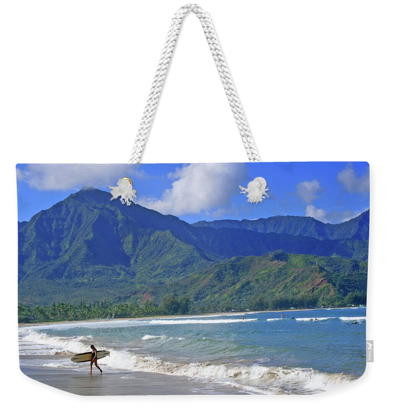 Surfer Weekender Tote Bag featuring the photograph Point Break by Scott Mahon