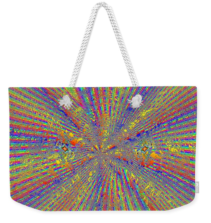 Abstract Weekender Tote Bag featuring the digital art Point Counter Point by Tim Allen