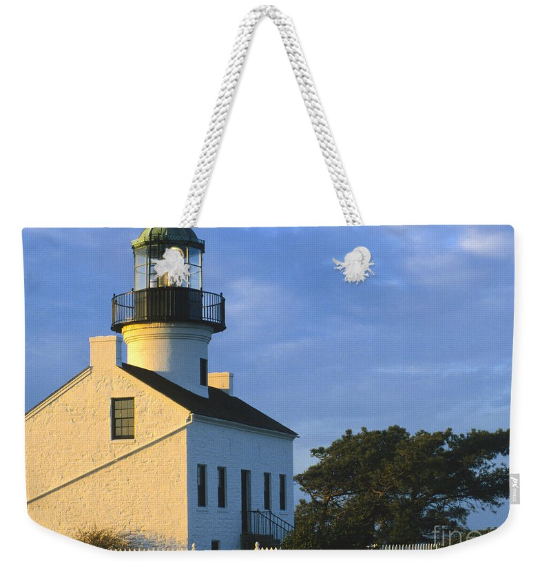 Lighthouse Weekender Tote Bag featuring the photograph Point Loma Lighthouse by Sandra Bronstein
