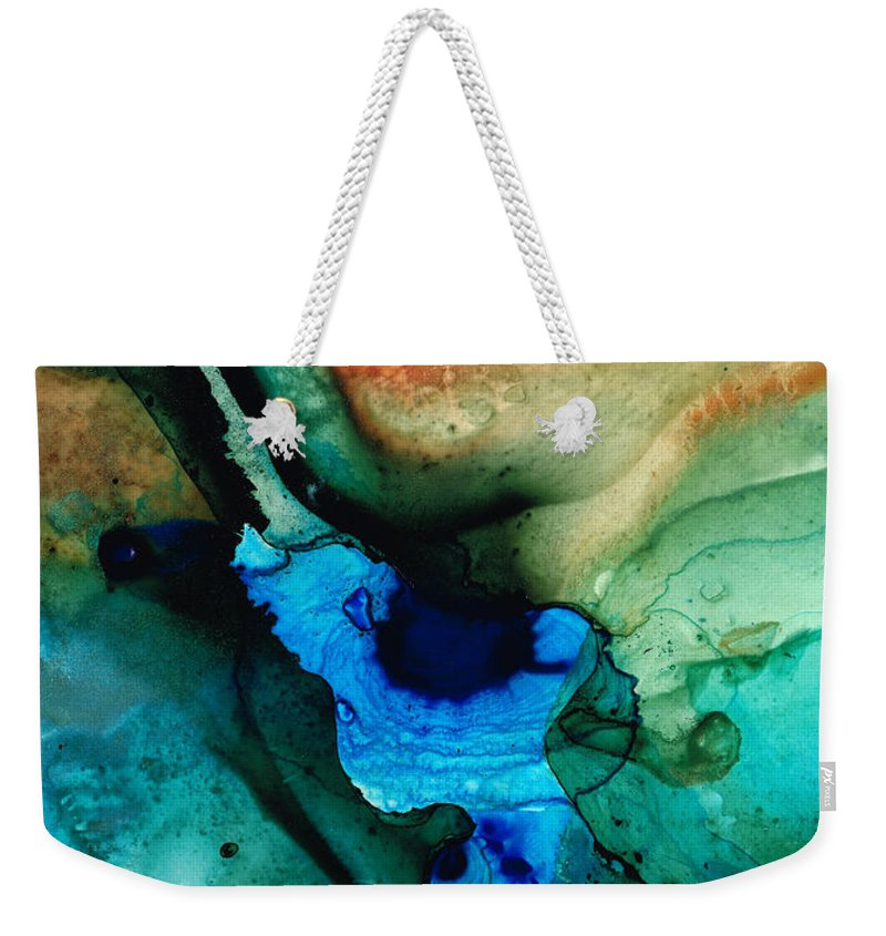 Abstract Art Weekender Tote Bag featuring the painting Point Of Power - Abstract Painting By Sharon Cummings by Sharon Cummings
