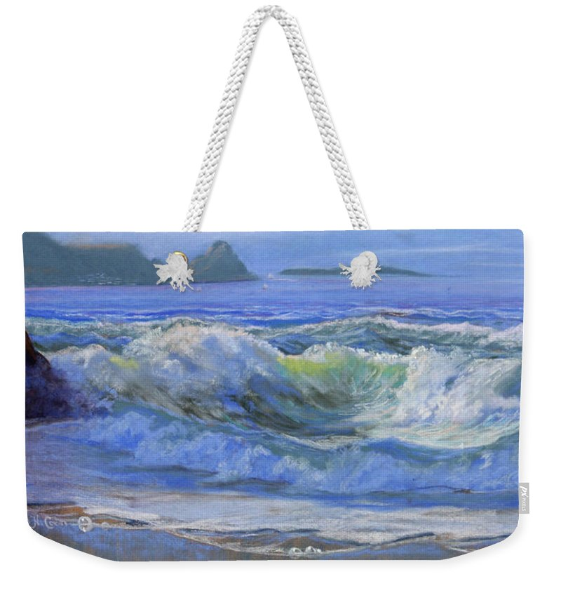 Seascape Weekender Tote Bag featuring the painting Point Reyes by Heather Coen