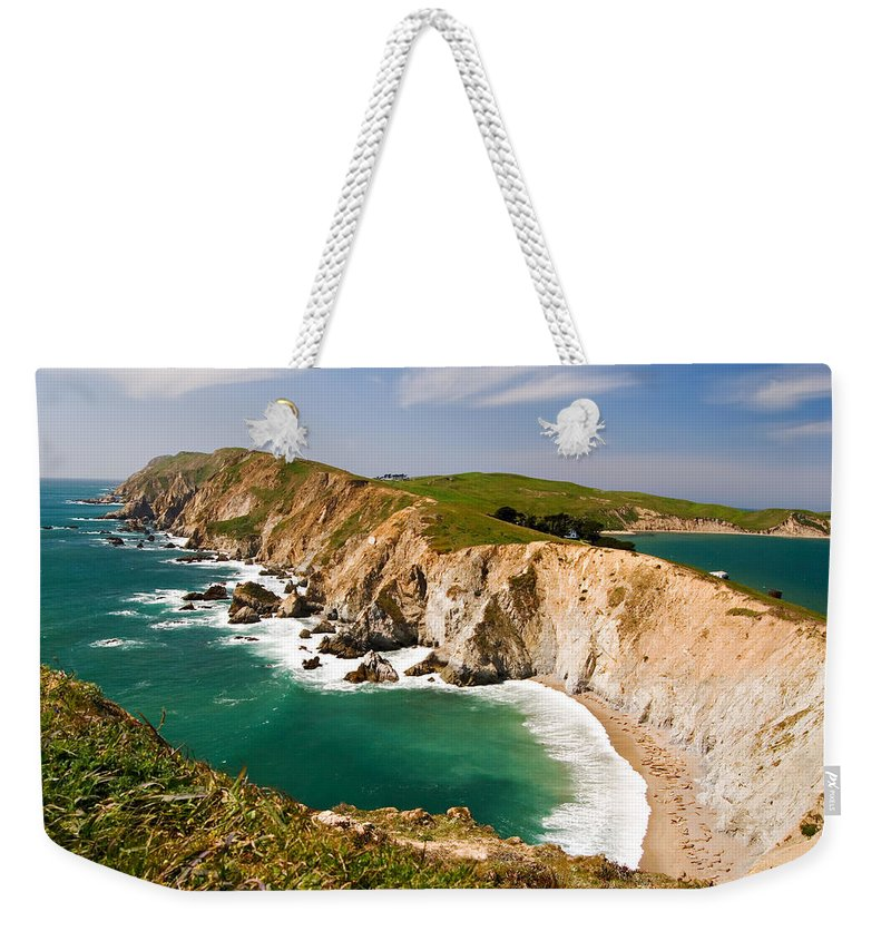 Elephant Seal Weekender Tote Bag featuring the photograph Point Reyes National Seashore by Renee Hong