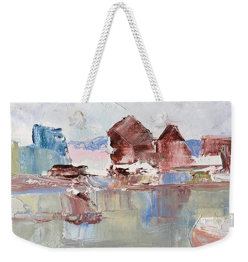 Palette Knife Weekender Tote Bag featuring the painting Point San Pablo 2 by Suzanne Cerny