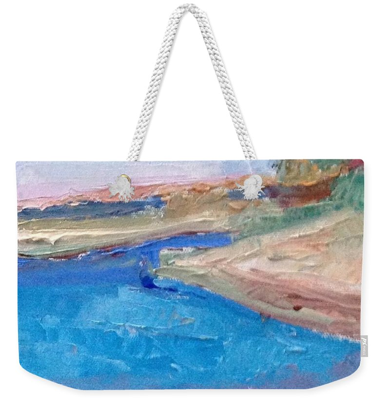 Palette Knife Painting Weekender Tote Bag featuring the painting Point San Pablo by Suzanne Cerny