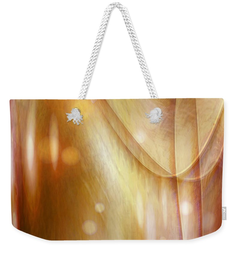 Abstract Art Weekender Tote Bag featuring the digital art Points Of Light by Linda Sannuti