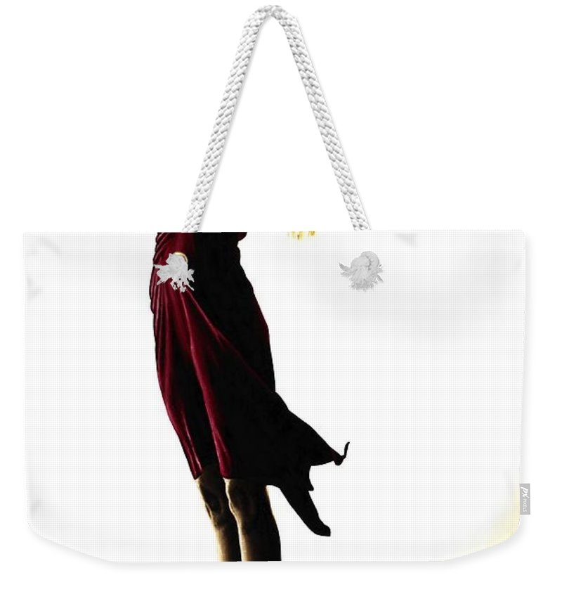 Ballet Weekender Tote Bag featuring the painting Poise In Silhouette by Richard Young