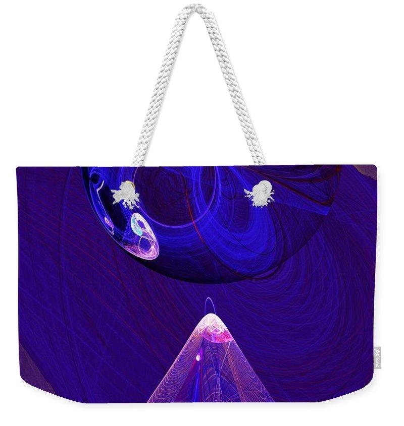 Fine Art Digital Art Weekender Tote Bag featuring the digital art Poised by David Lane