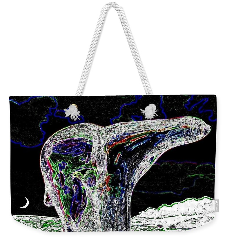 Abstract Weekender Tote Bag featuring the digital art Polar Bear by Will Borden