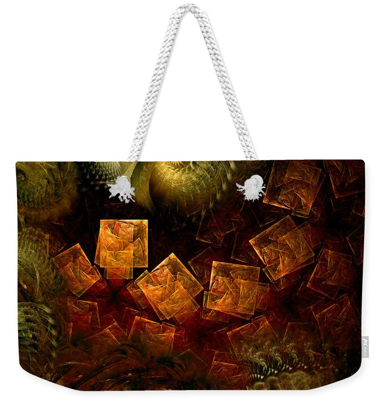 Abstract Weekender Tote Bag featuring the digital art Political Dissonance by Casey Kotas