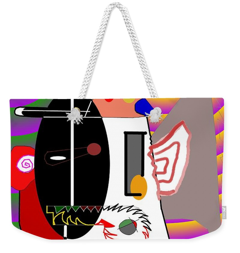 Politic Weekender Tote Bag featuring the digital art Politics by Helmut Rottler