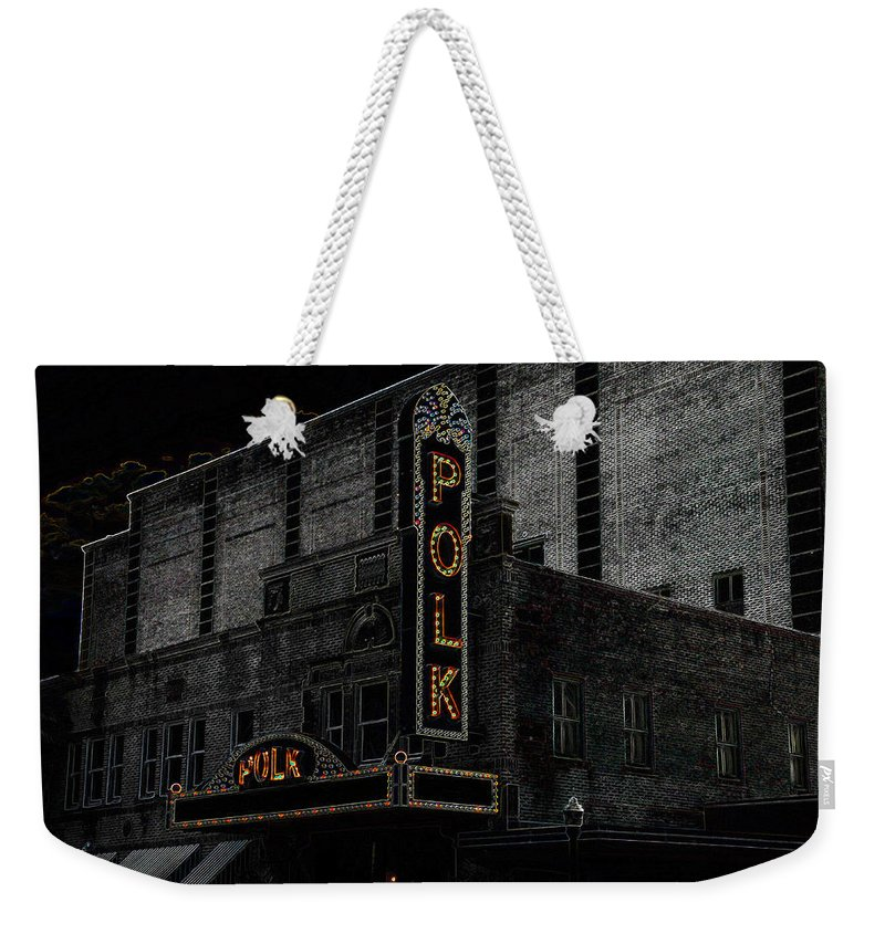 Art Weekender Tote Bag featuring the painting Polk Movie House by David Lee Thompson