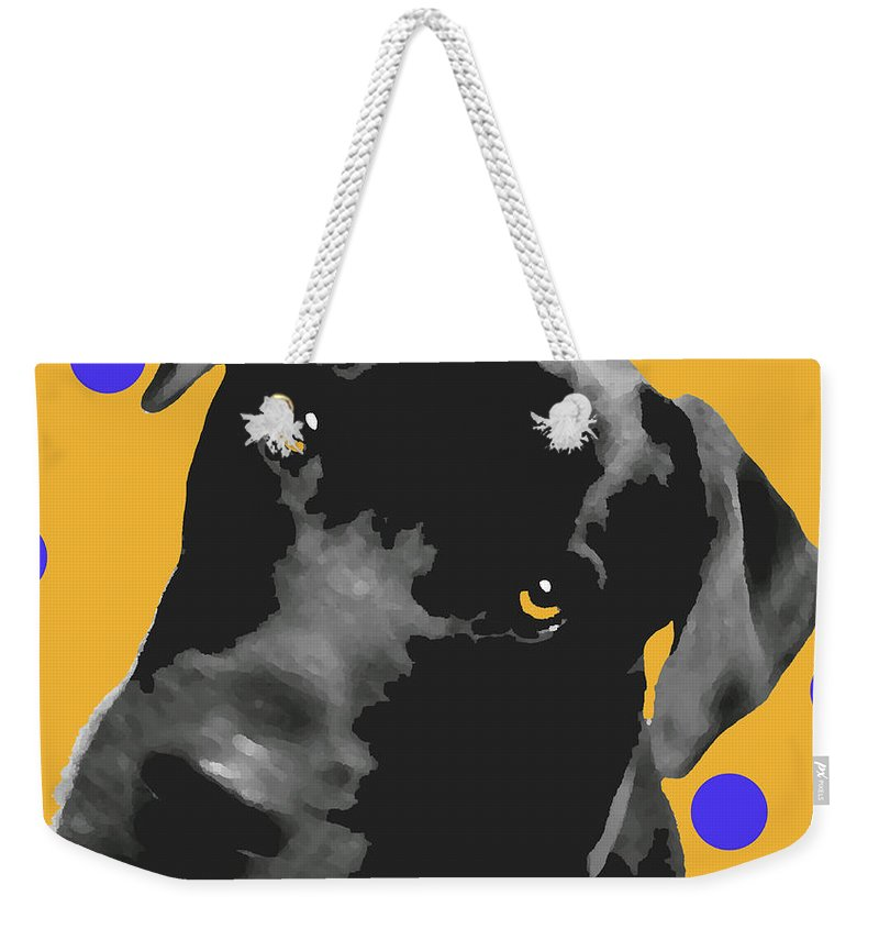 Dogs Weekender Tote Bag featuring the photograph Polka Dot by Amanda Barcon