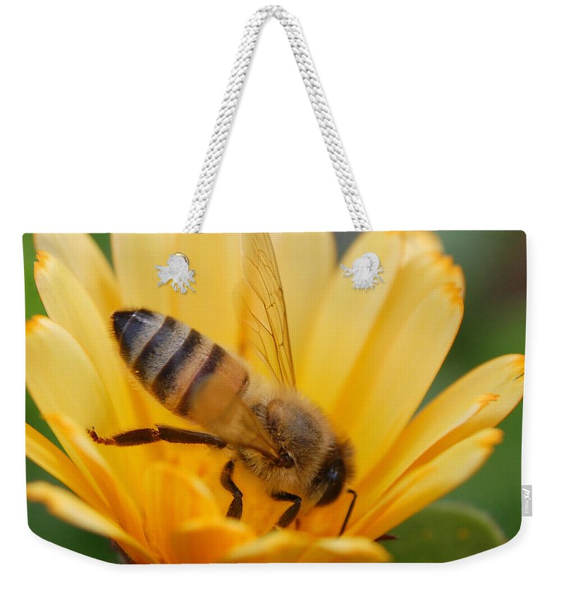 Bee Weekender Tote Bag featuring the photograph Pollination 2 by Amy Fose
