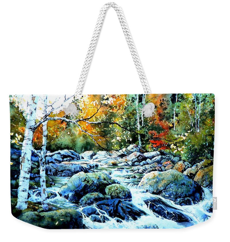 Landscape Weekender Tote Bag featuring the painting Polliwog Clearing by Hanne Lore Koehler