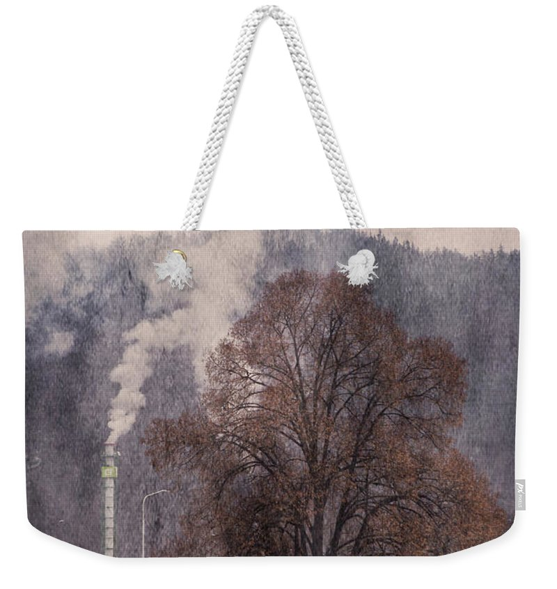 Pollution Weekender Tote Bag featuring the photograph Pollution V2 by Alex Art and Photo