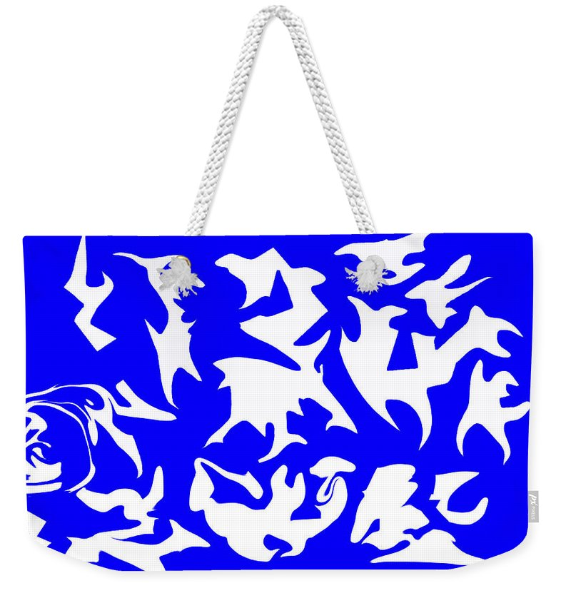 What Do You See? Weekender Tote Bag featuring the digital art Polygon Sky by Aidan Farmer
