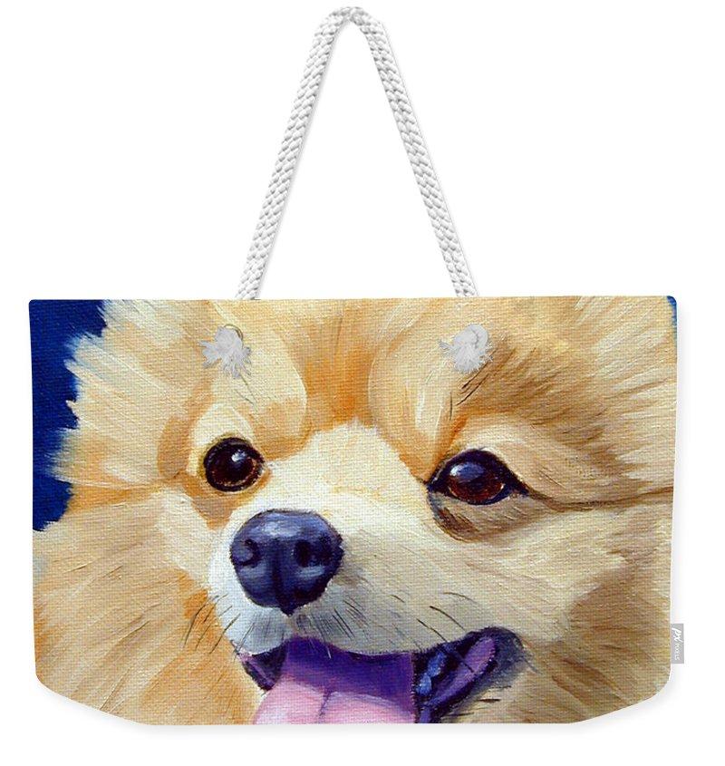 Pomeranian Weekender Tote Bags
