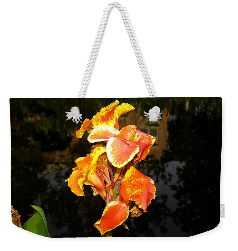 Flower Weekender Tote Bag featuring the photograph Pond Beauty by David Lee Thompson