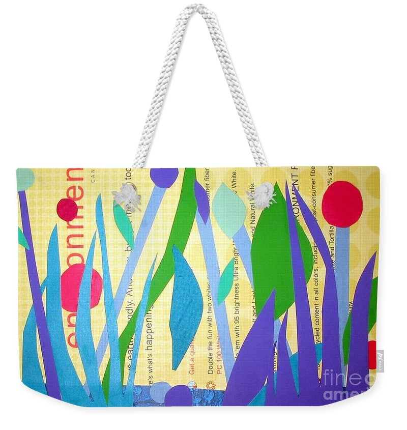 Landscape Weekender Tote Bag featuring the mixed media Pond Life by Debra Bretton Robinson