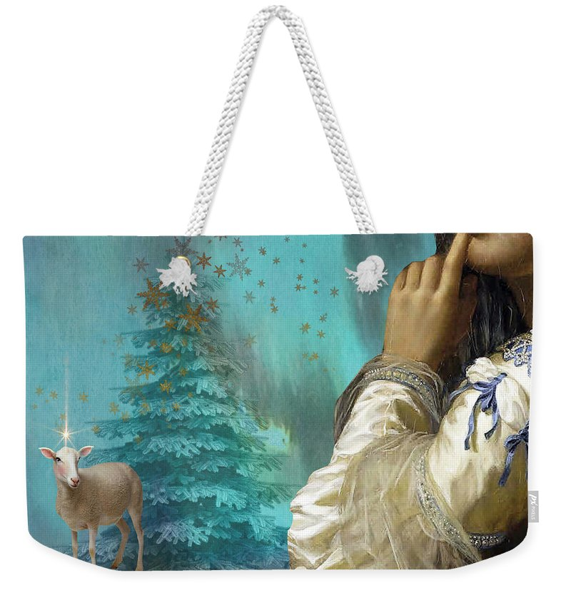 Portraiture Weekender Tote Bag featuring the painting Pondering Peace by Laura Botsford