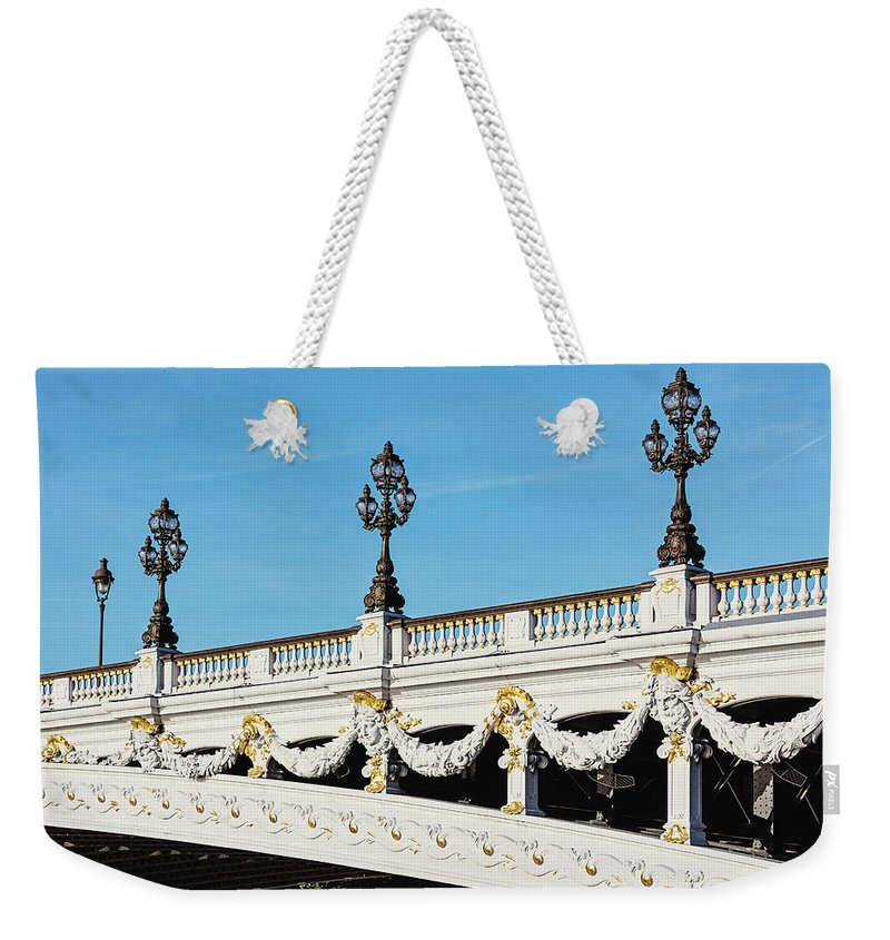 Pont Alexandre Iii Weekender Tote Bag featuring the photograph Pont Alexandre IIi - Paris, France by Melanie Alexandra Price