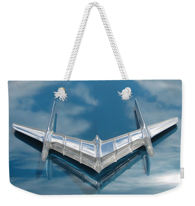 Pontiac Weekender Tote Bag featuring the photograph Pontiac Air by Kelly Mezzapelle