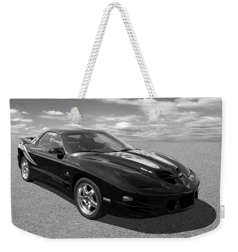 Pontiac Trans Am Ram Air In Black And White Weekender Tote Bag