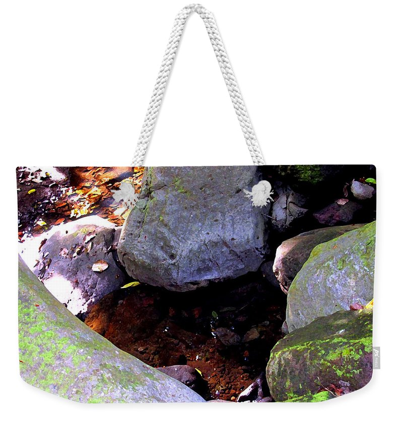 Water Weekender Tote Bag featuring the photograph Pool In The Rainforest by Ian MacDonald