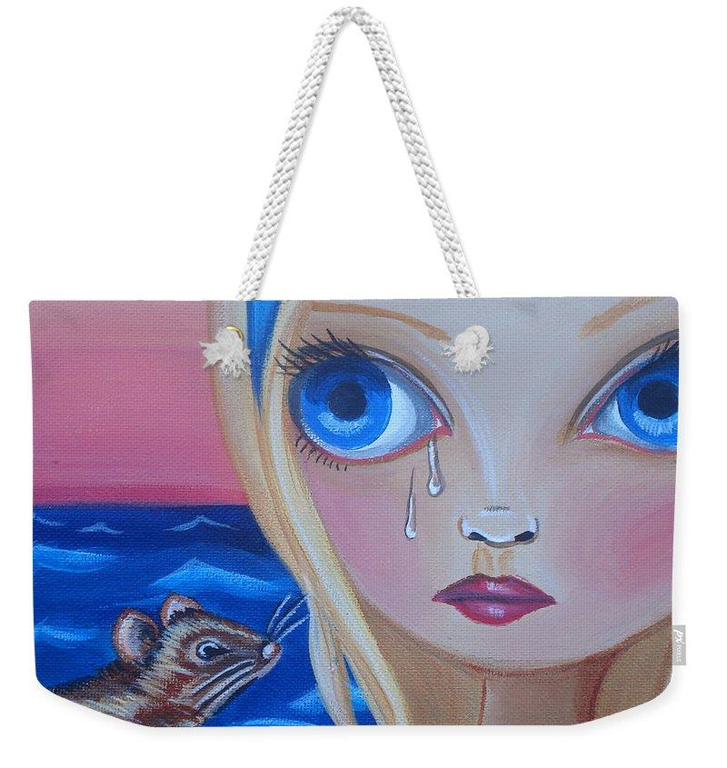 Pool Of Tears Weekender Tote Bag featuring the painting Pool Of Tears by Jaz Higgins