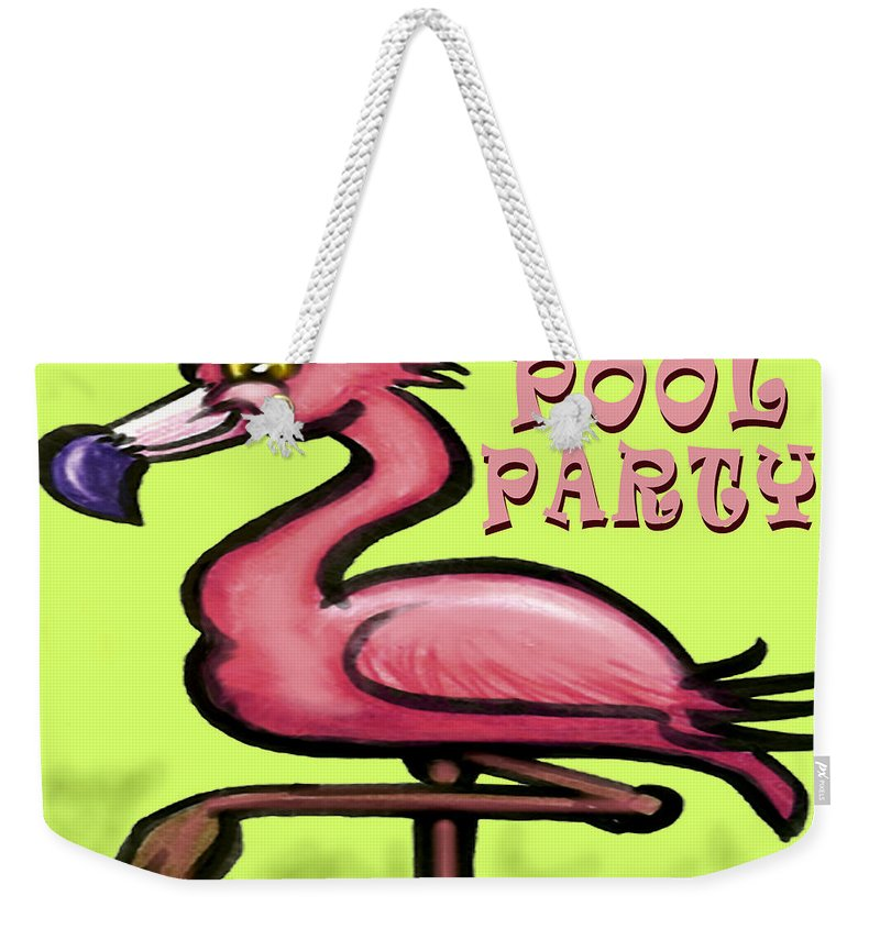 Pool Weekender Tote Bag featuring the greeting card Pool Party by Kevin Middleton