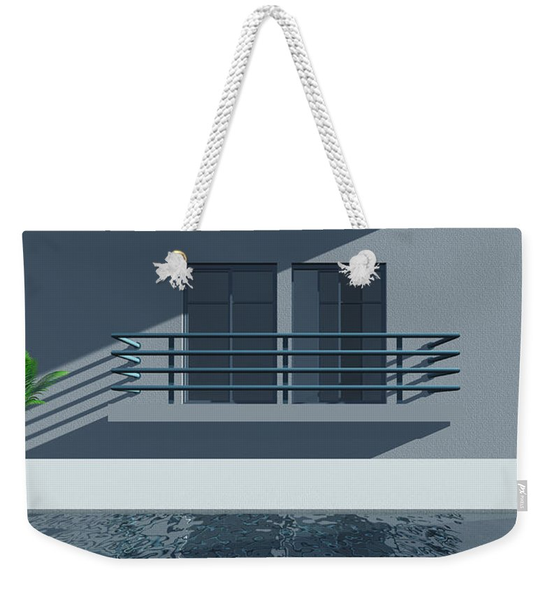 Abstract Weekender Tote Bag featuring the digital art Pool Side by Richard Rizzo