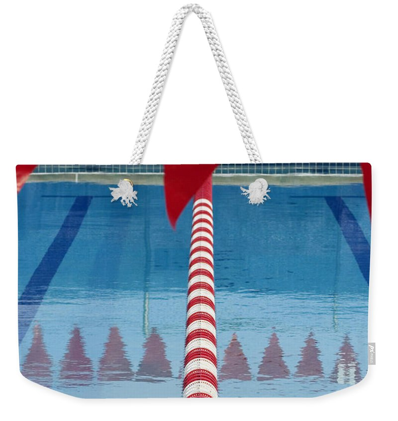 Flag Weekender Tote Bag featuring the photograph Pool by Skip Hunt