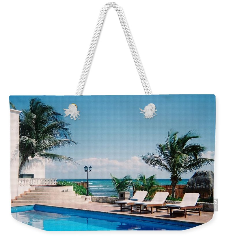 Resort Weekender Tote Bag featuring the photograph Poolside by Anita Burgermeister