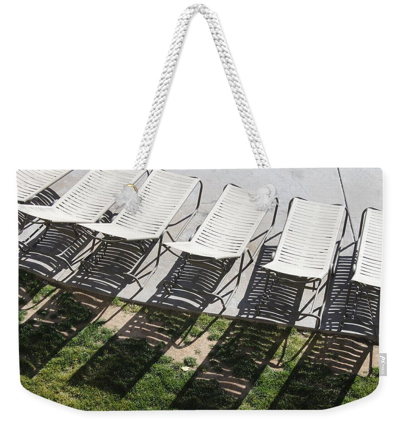 Pool Weekender Tote Bag featuring the photograph Poolside by Lauri Novak